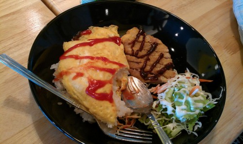 Katsu and Omurice - Bleh katsu and not really omurice, but tasty and filling for 49 baht. 7/10.